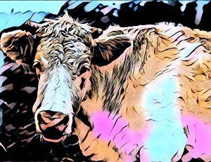 Mooo - Cow Modern Pop Art