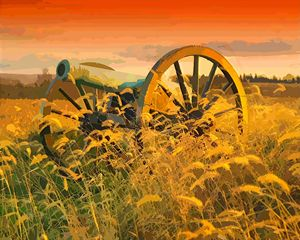 Antietam Maryland Cannon Landscape - Rogue Art
