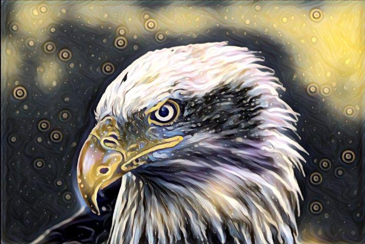 Eagle Wildlife Portrait - Rogue Art