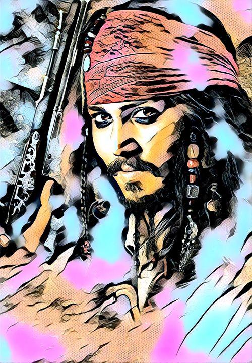 Jack Sparrow - Pirate - Rogue Art