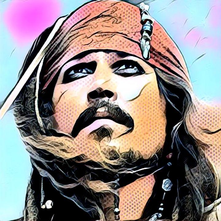 Jack Sparrow comic Pop Art - Rogue Art
