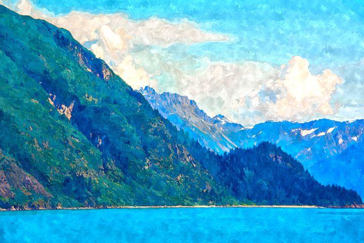 Blue Mountains Landscape - Rogue Art