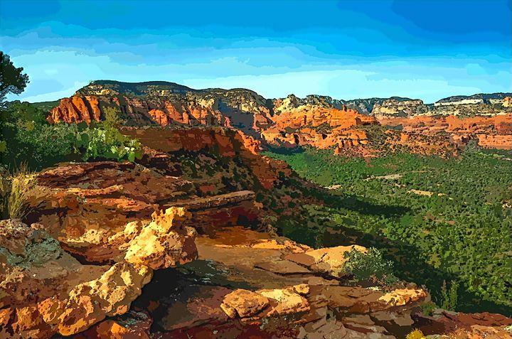 Beauty of The Desert Landscape - Rogue Art