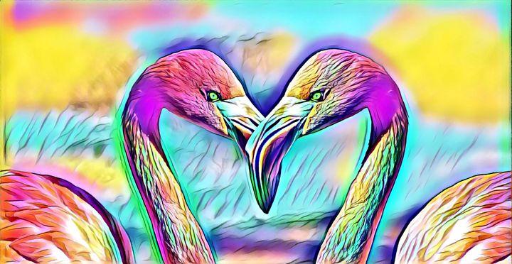 Flamingos - Rogue Art