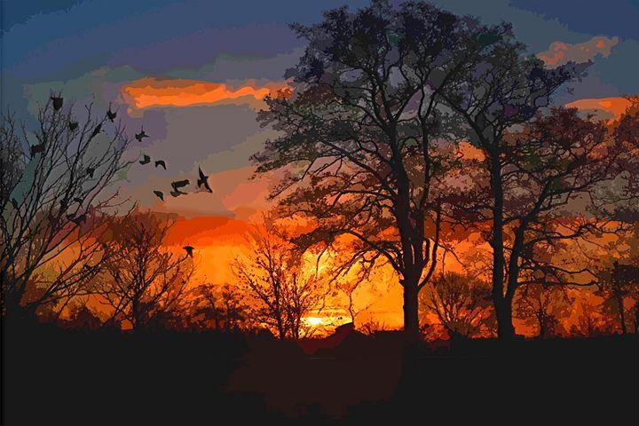 Morgenrot Sunset Landscape - Rogue Art