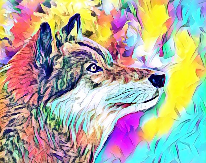 Wolf Colorful - Rogue Art