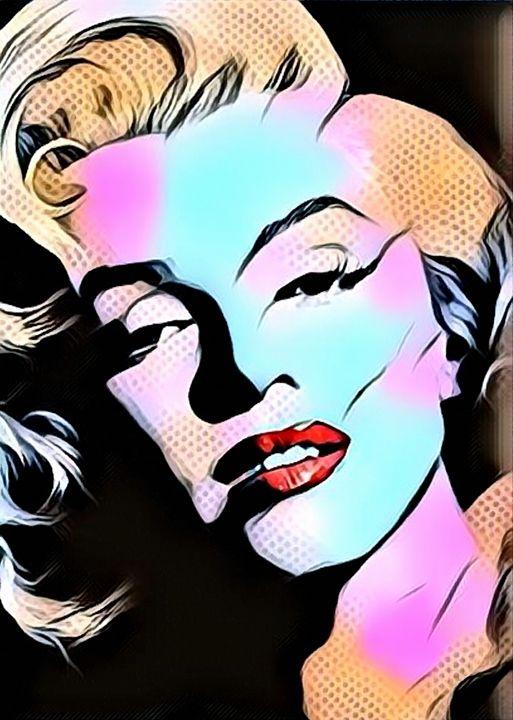 Marilyn Monroe Modern Pop Art - Rogue Art