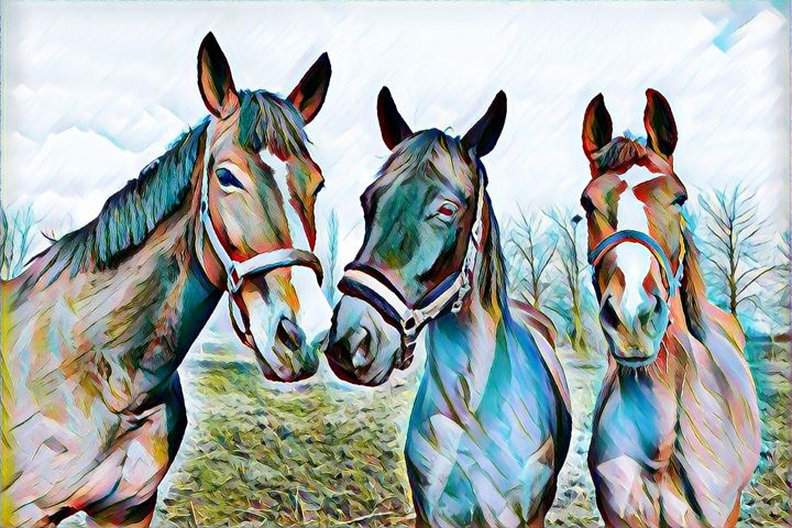 Three Amigos - Horse Print - Rogue Art