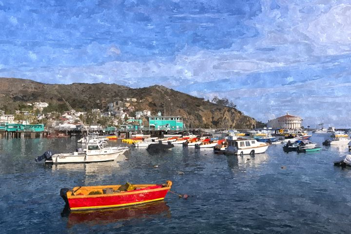 Day at The Harbor Landscape - Rogue Art