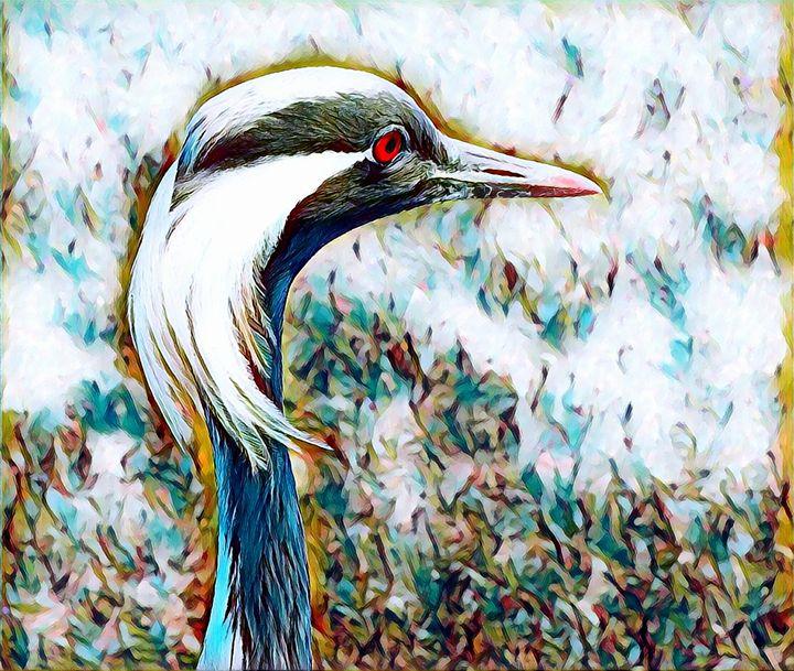 Crane Bird Print - Rogue Art