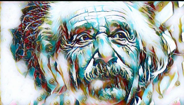 Albert Einstein Portrait - Rogue Art