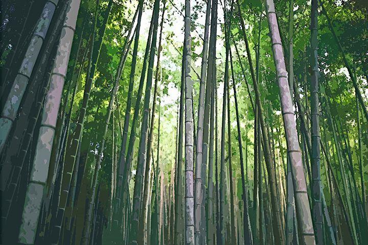 Bamboo Trees Landscape - Rogue Art
