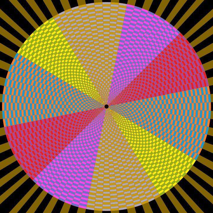 Pie of destiny circle pattern art - Art Geometrix