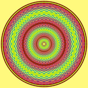 Sublime vision circle pattern art