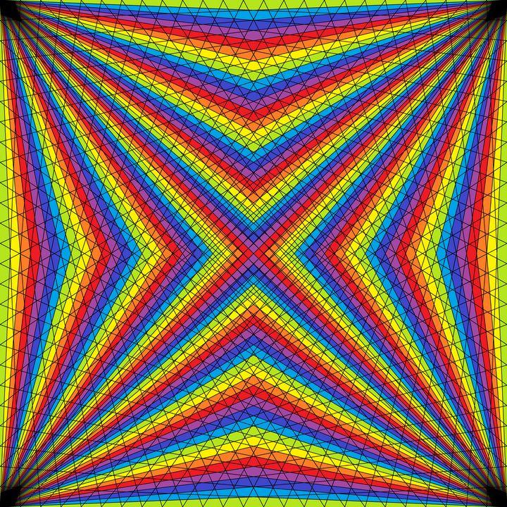 Diamond inversion net pattern art - Art Geometrix