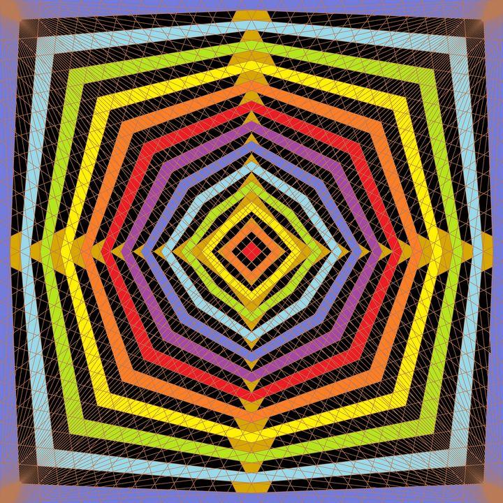 Supernova net pattern art print - Art Geometrix