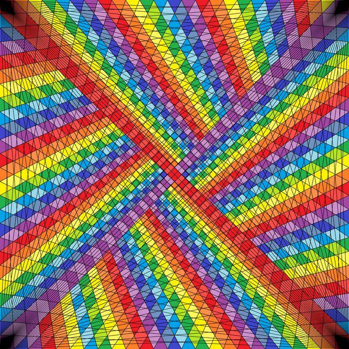 Overlap net pattern art print - Art Geometrix