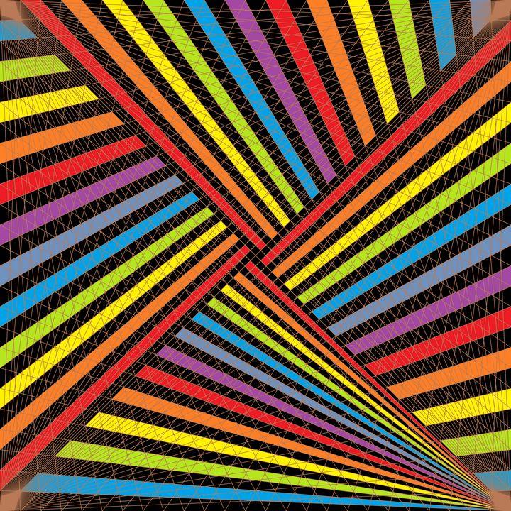 Strike flash net pattern - Art Geometrix