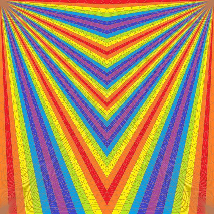 Sliding scale net pattern art print - Art Geometrix