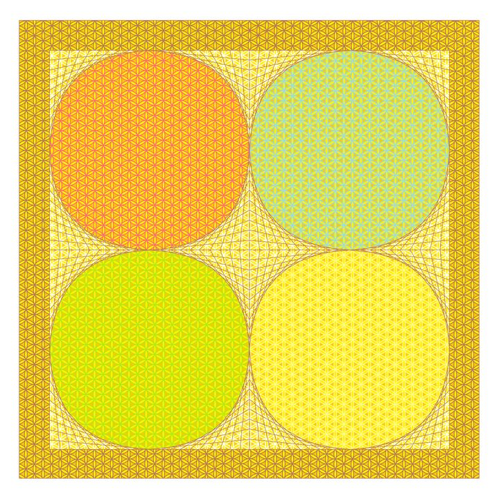 Four seasons geometric art - Art Geometrix