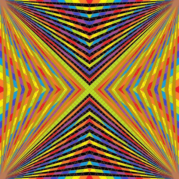 Miracles net pattern art print - Art Geometrix