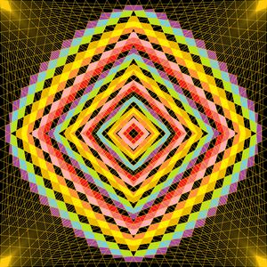 Energetic rave geometric art print