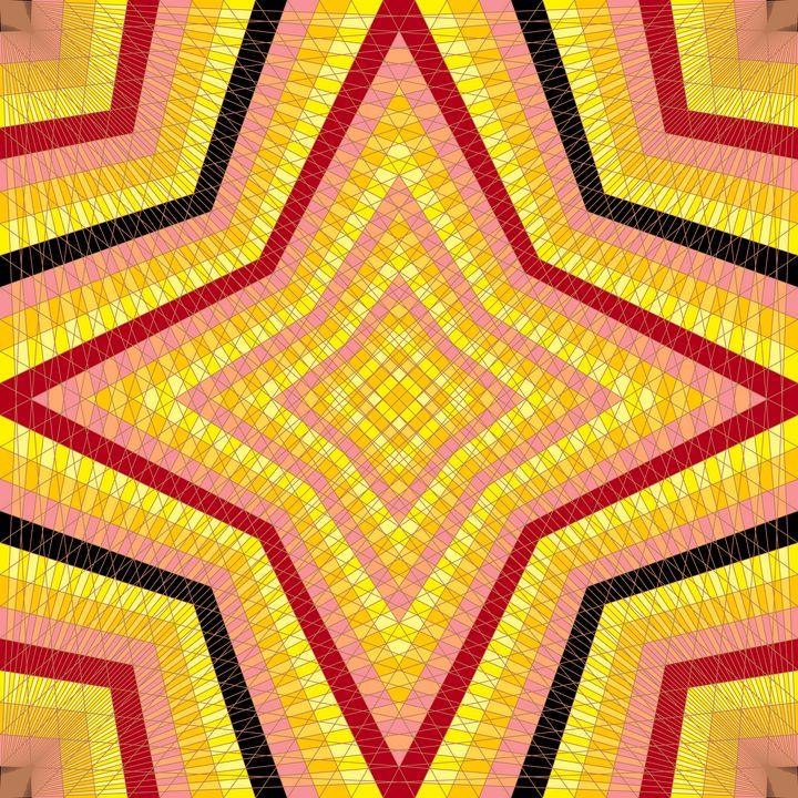 Star quality net pattern art print - Art Geometrix