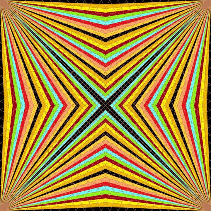 World of colour geometric art print - Art Geometrix