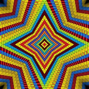 Dazzling star geometric art print