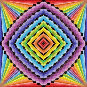 Wow projection geometric art print