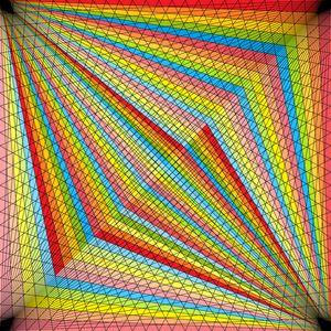 Spotlights geometric art print