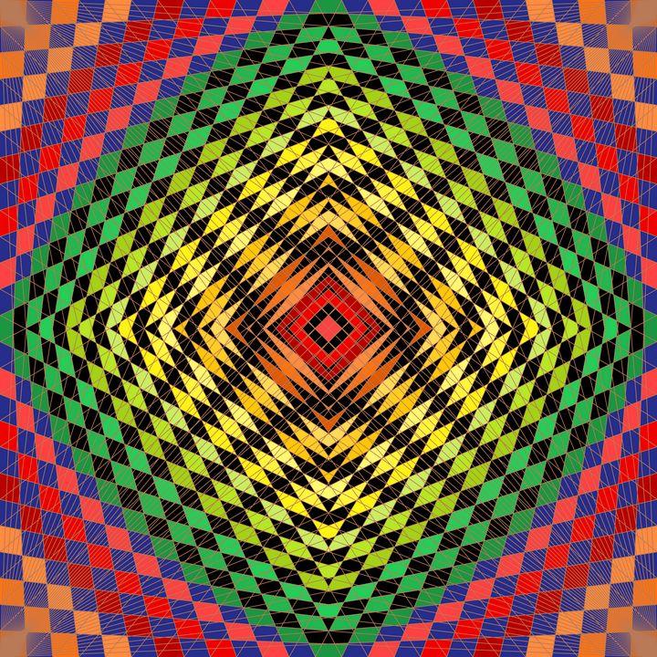 Bold statement geometric art print - Art Geometrix