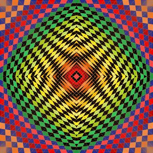 Bold statement geometric art print