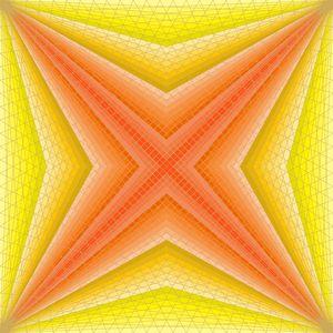Upon a star geometric art print