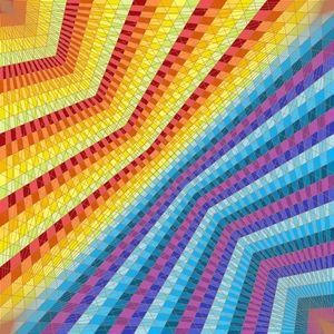 Opposites geometric art print
