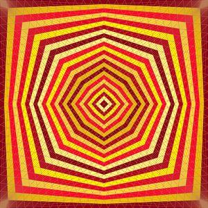 Ember glow geometric art print