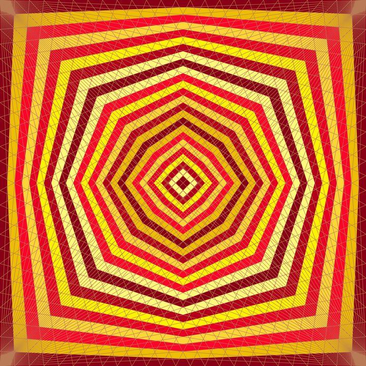 Ember glow geometric art print - Art Geometrix