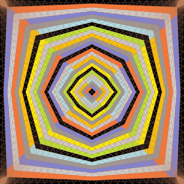 Gates of majesty geometric art print - Art Geometrix