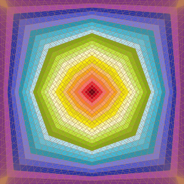 Octagon dream geometric art print - Art Geometrix