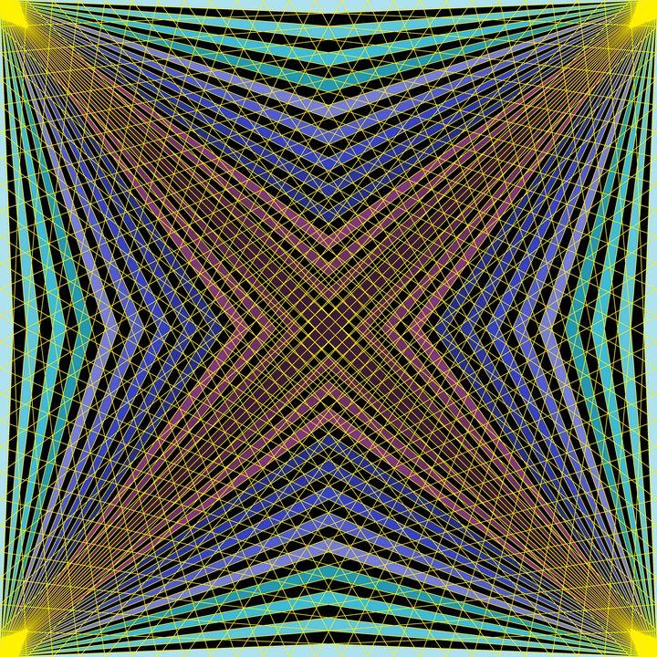 Deepness inside geometric art print - Art Geometrix