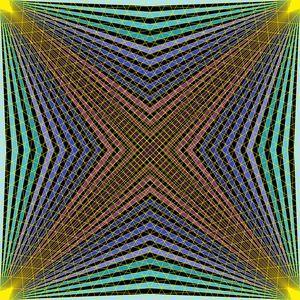 Deepness inside geometric art print