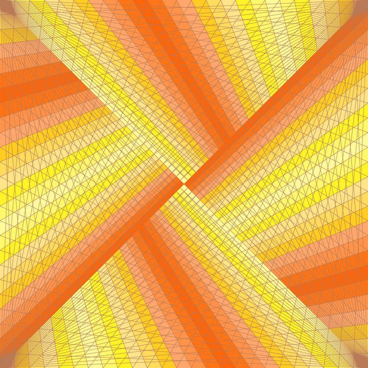 Warm ribbons geometric art print - Art Geometrix