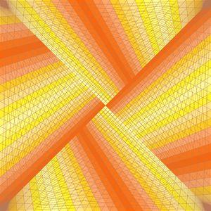 Warm ribbons geometric art print