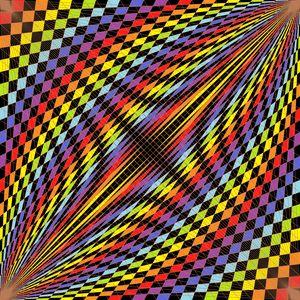Dashboard geometric art print