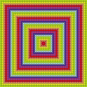 Special borders geometric art print