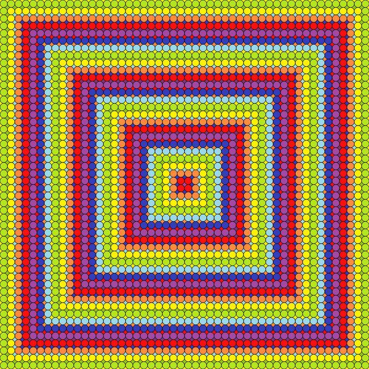 Special borders geometric art print - Art Geometrix