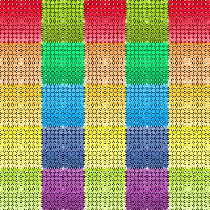 Patches of the divine geometric art - Art Geometrix