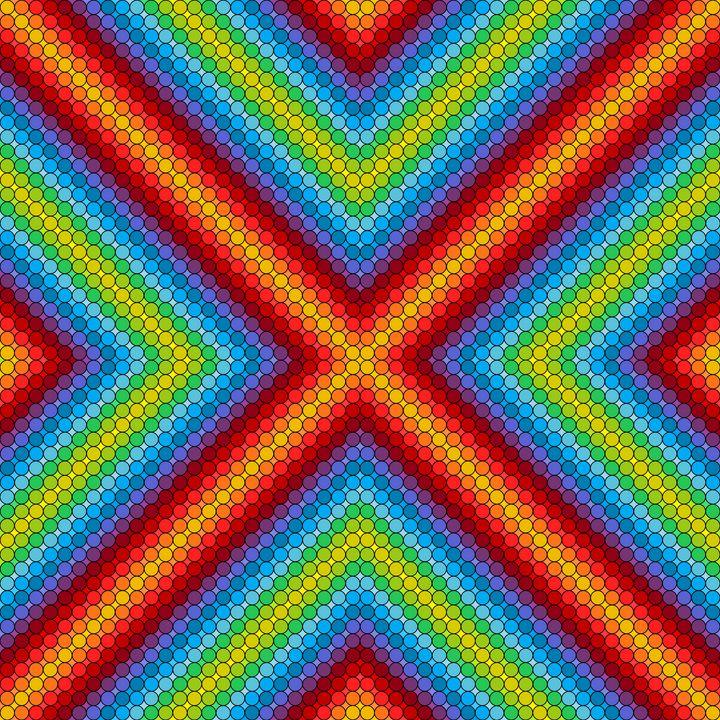Central theme geometric art print - Art Geometrix