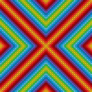 Central theme geometric art print