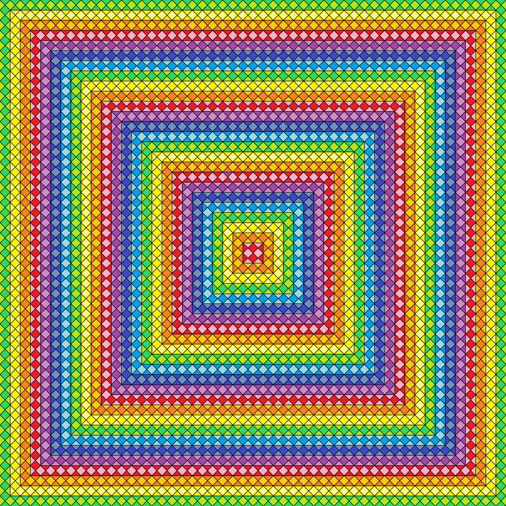 Truly complex geometric art print - Art Geometrix